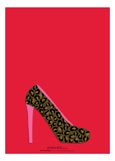 Cheetah High Heel Shoe Invitation
