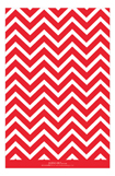 Chevron Blue Red Photo Card