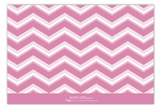 Chevron Monogram Pink Flat Note Card