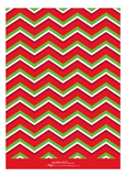 Chevron Monogram Red and Green Photo Card