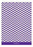Chevron Purple Invitation