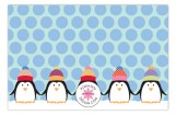 Chilly Penguins Photo Card