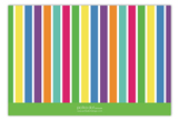 Colors of the Rainbow Flat Note Card