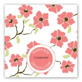 Coral Poppies Gift Tag