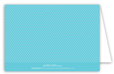 Cute as a Button Blue Baby Shower Folded Note Card