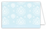 Cute Blue Floral Folded Note Card