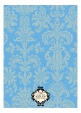 Damask Mommy Blue Invitation