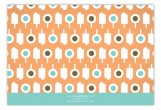 Dreamsicle Summer Pops Flat Note Card