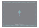 Etched Cross Boy Invitation