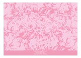 Floral Pink Initial Block Photo Card