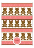 Girl Teddy Bear Icon Invitation