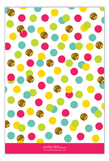 Glitter Color Confetti Flat Note Card