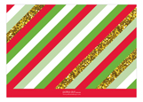 Glitter Stripes New Year Photo Card
