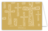 Gold Cross Background Note Card