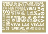 Gold Viva Las Vegas Photo Card