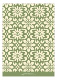 Graphic Damask Green Photo Card