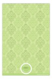 Green and Pink Damask Photo Card