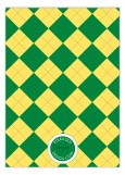 Green and Yellow Argyle Invitation