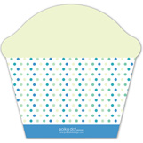 Green Bowtie Cupcake Invitation