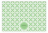 Green Elegance Flat Note Card