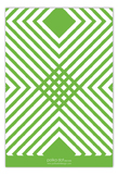 Green Graphic Sides Flat Note Card