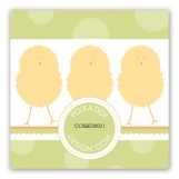 Green Polka Dot Chicks Gift Tag