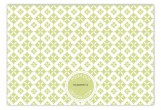 Green Pure Pattern Flat Note Card