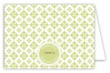 Green Pure Pattern Folded Note Card