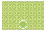 Green Sophisticate Flat Note Card