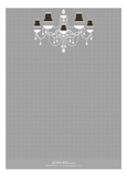 Grey Blonde Chandelier Shower Invitation