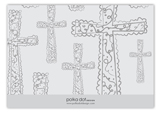 Grey Cross Background Enclosure Card