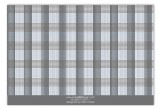 Grey Glen Plaid Flat Note Card