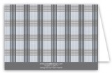 Grey Glen Plaid Note Card