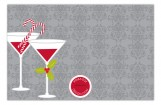 Grey Holiday Spirits Invitation