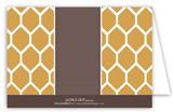 Honey Comb Folded Note Card