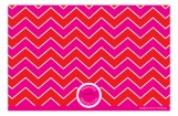 Hot Pink and Red Chevron Photo Card