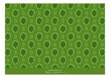 Ikat Polka Dot Green Photo Card