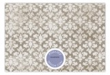 Lavender Damask Cloth Flat Note Card