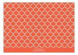 Lime and Orange Quatrefoil Photo Card