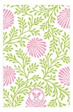 Lime Pink Floral Photo Card