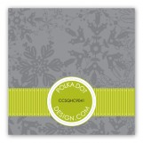 Lime Snowy Grosgrain Gift Tag