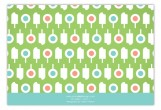 Lime Summer Pops Flat Note Card