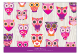 Look Whooos Having a Birthday Owl Flat Note Card