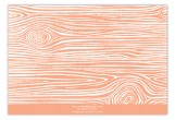 Melon Woodgrain Flat Note Card