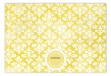 Navy Damask Cloth Flat Note Card