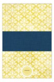 Navy Damask Cloth Photo Notepad