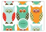 Navy Pattern Owls Enclosure Card