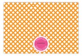 Orange Garden Trellis Flat Note Card