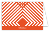 Orange Graphic Graduate Folded Note Card