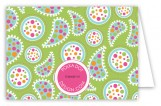 Paisley Pop Folded Note Card
